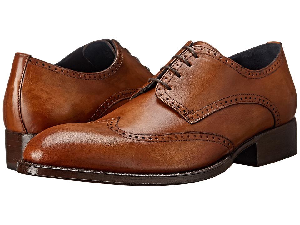 Messico Refugio Welt Vintage Honey Leather Mens Flat Shoes