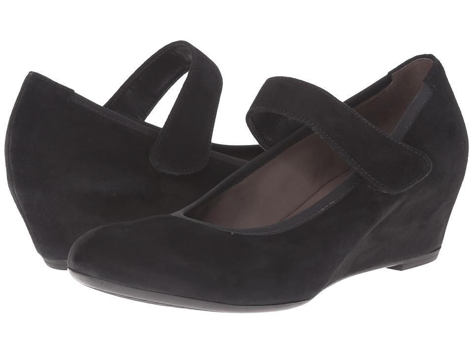 Gabor Gabor 35.362 Black Samtchevreau Womens 1 2 inch heel Shoes