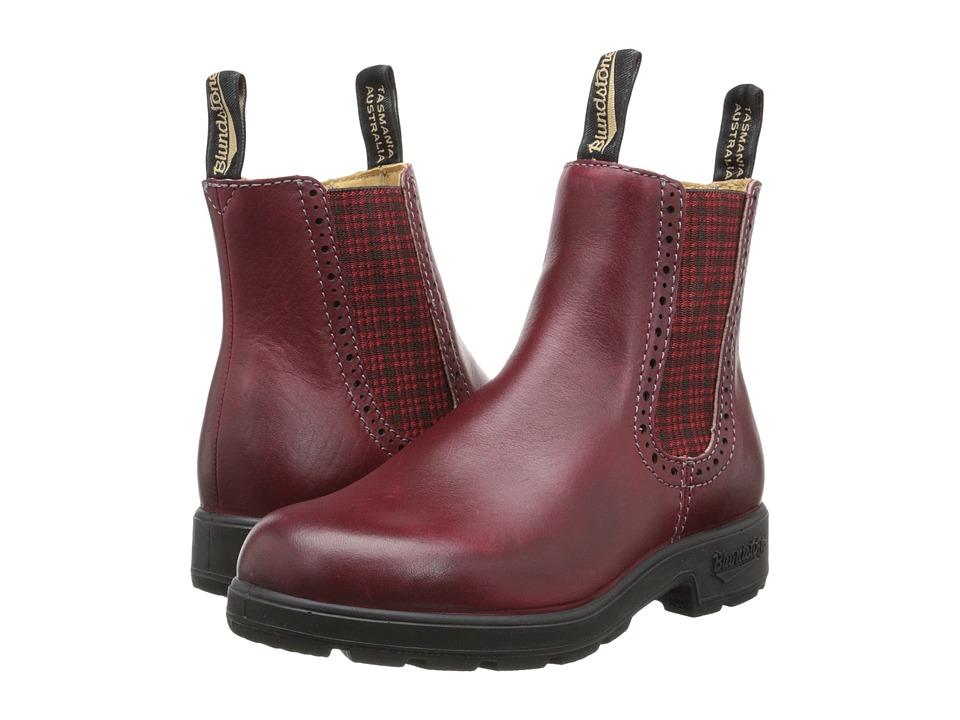 Blundstone BL1442 Burgundy/Red Tartan Elastic Womens Work Boots