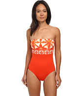 MICHAEL Michael Kors - Glazed Tile Bandeau Maillot One-Piece