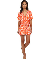 MICHAEL Michael Kors - Glazed Tile V-Neck Tunic Cover-Up