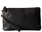 Mighty Purse Cow Leather Charging Wristlet (Matte Black)