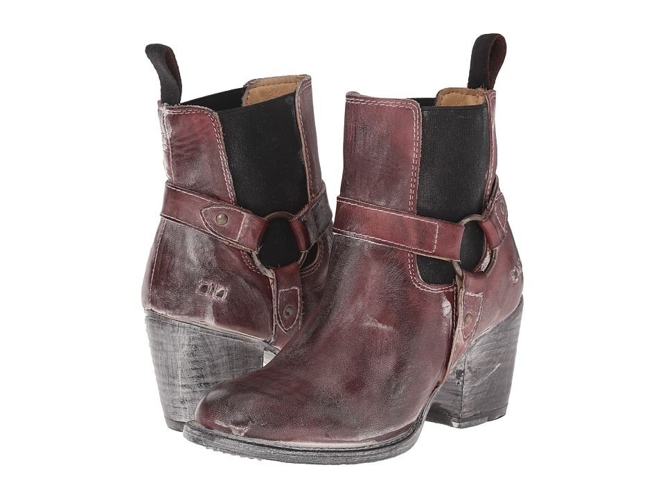 Bed Stu Liberate Dark Scarlett/Rustic White BFS Leather Womens Dress Boots