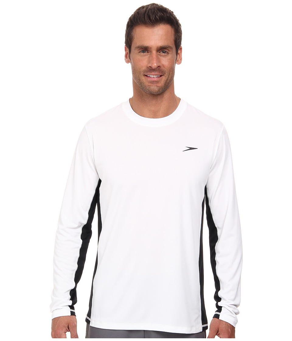 Speedo Longview Long Sleeve Swim Tee White Mens Swimwear