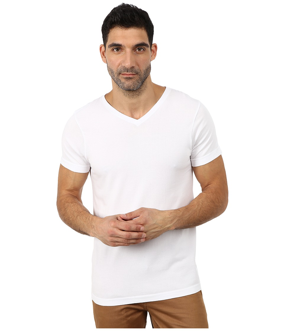 Ministry of Supply Atmos Lightweight V Neck T Shirt Optic White Mens T Shirt