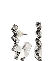 Giles & Brother - Ray Zig Zag Pave Hoop Earrings
