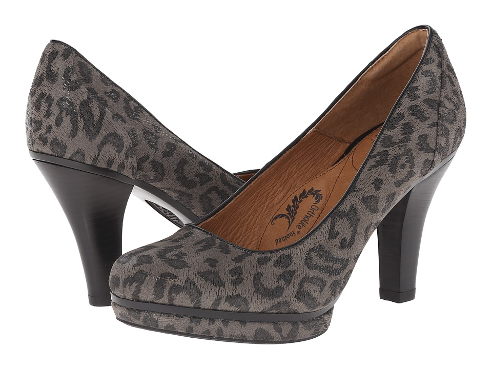 Sofft Mandy (Grey Leopard Hair Foil Suede) High Heels