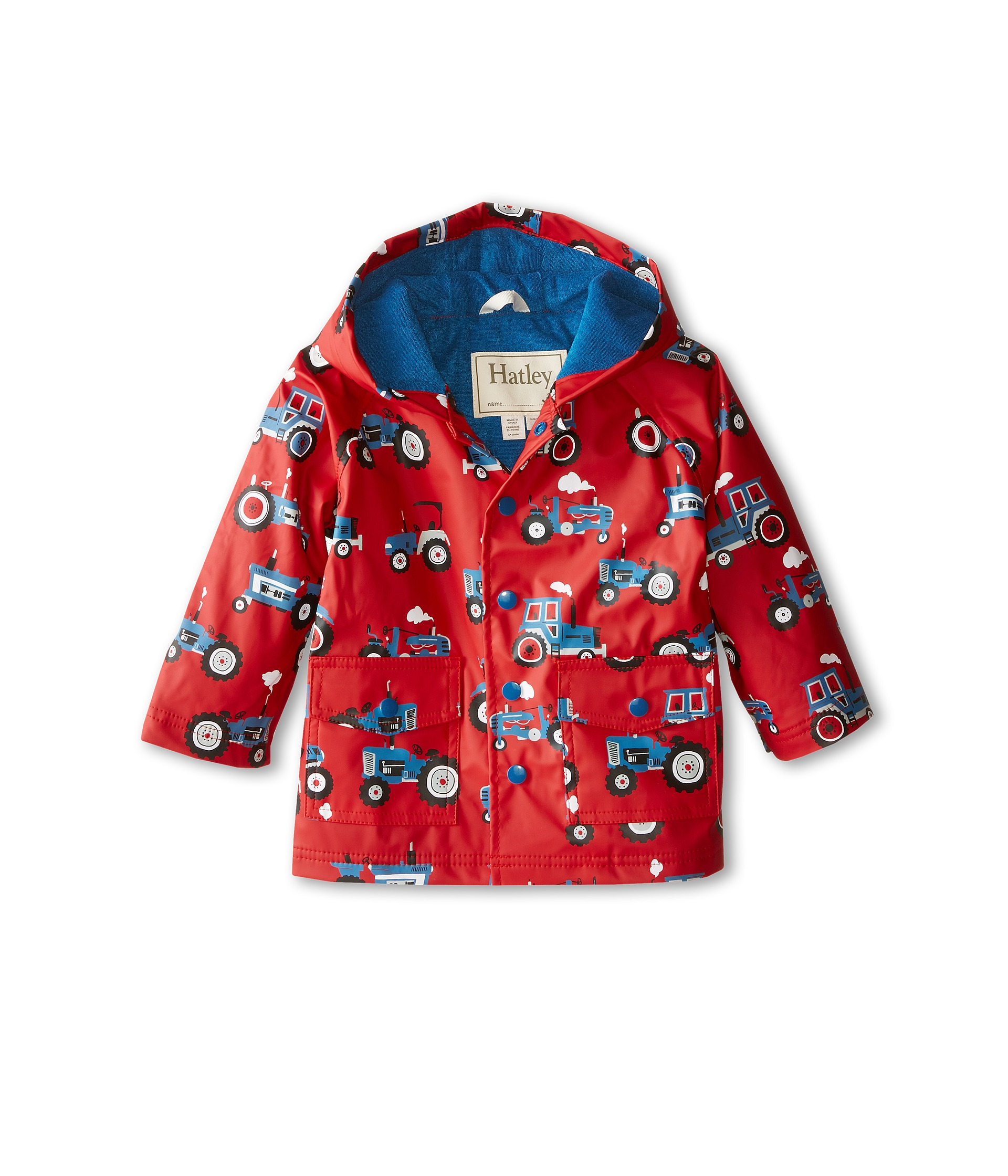 Product Description This his favorite rain slicker rain jacket from Carter's will keep your.