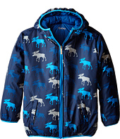 Hatley Kids - Graphic Moose Reversible Winter Puffer (Toddler/Little Kids/Big Kids)