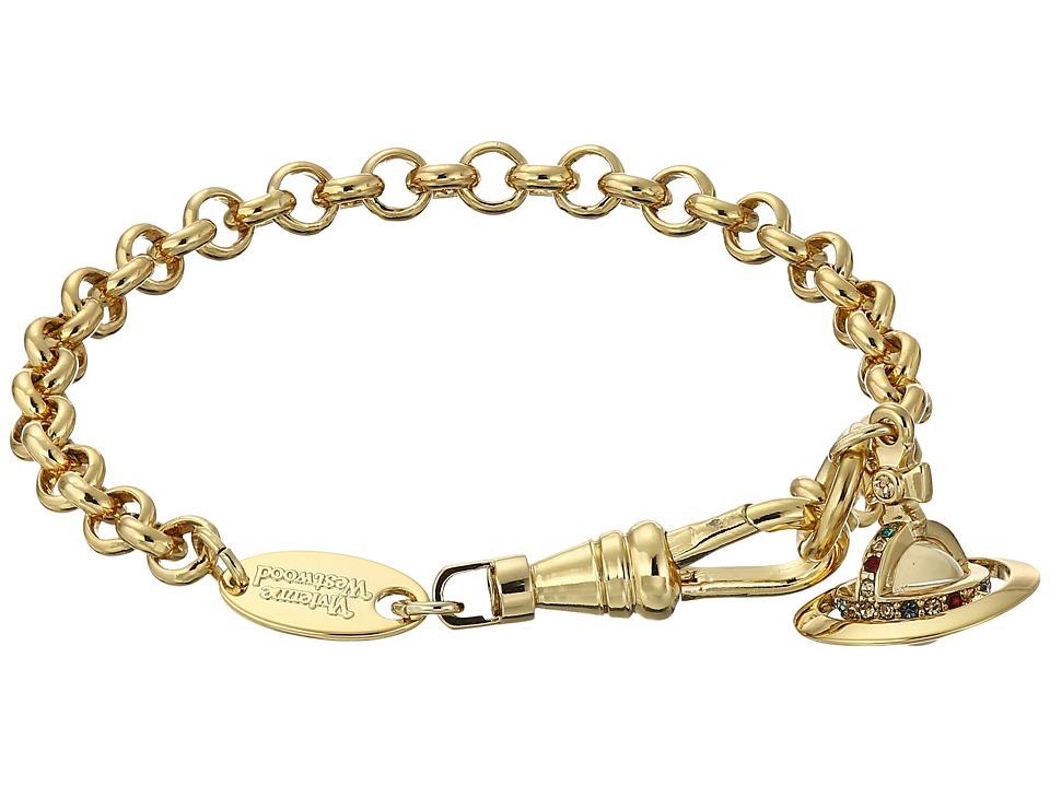 Vivienne Westwood - New Petite Orb Pendant Bracelet (Gold) Necklace