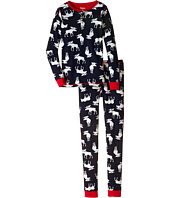 Hatley Kids - Navy Moose Henley PJ Set (Toddler/Little Kids/Big Kids)
