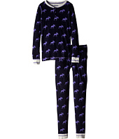 Hatley Kids - Graphic Moose Henley PJ Set (Toddler/Little Kids/Big Kids)