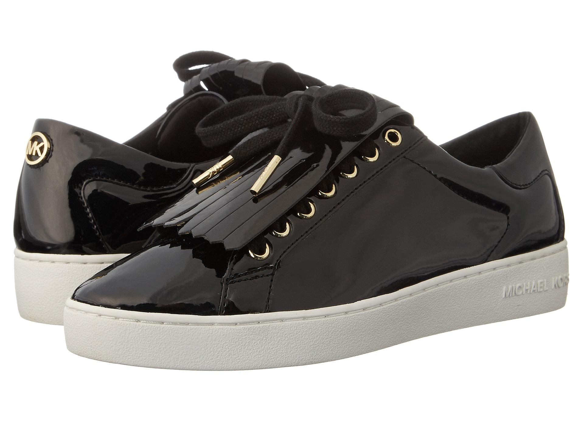 michael michael kors keaton kiltie sneaker black patent free shipping both ways. Black Bedroom Furniture Sets. Home Design Ideas