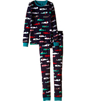 Hatley Kids - Scarf Whales PJ Set (Toddler/Little Kids/Big Kids)