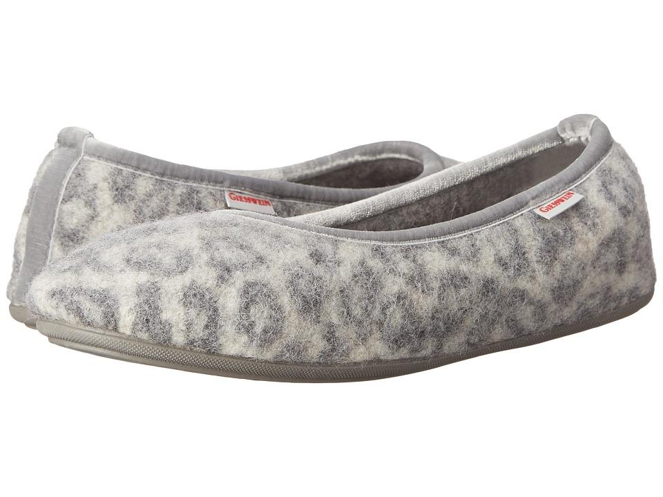 Giesswein Lucie Snow Leopard Womens Slippers