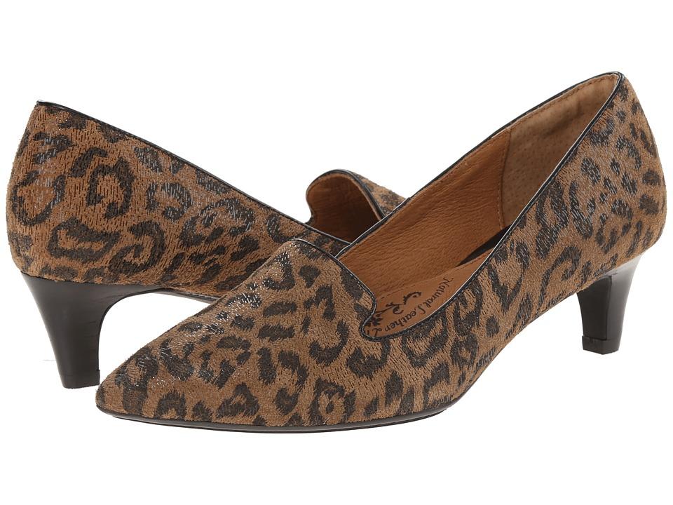 Sofft - Vesper Desert Tan Leopard Hair Foil Suede Womens Shoes $89.95 AT vintagedancer.com