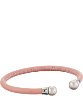 Majorica - Pink Leather Pearl Bangle