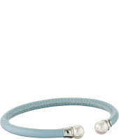 Majorica - Blue Leather Pearl Bangle