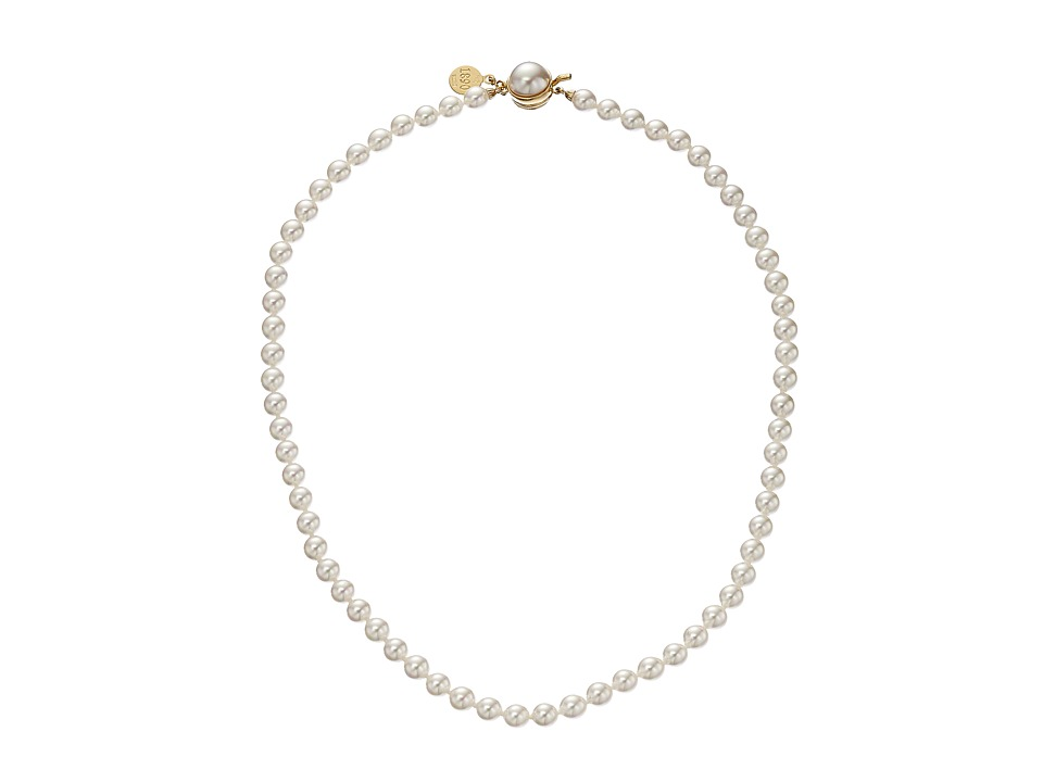 Majorica 6mm Pearl Strand Necklace Gold/ White Necklace
