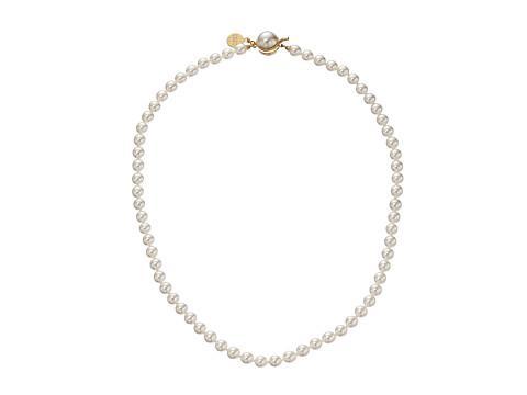 Majorica 6mm Pearl Strand Necklace - Gold/ White