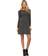 M Missoni - Window Pane Long Sleeve Dress