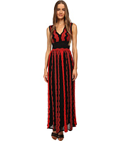 M Missoni - Sheer Greek Key Long Gown