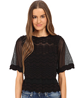 M Missoni - Sheer Greek Key Top