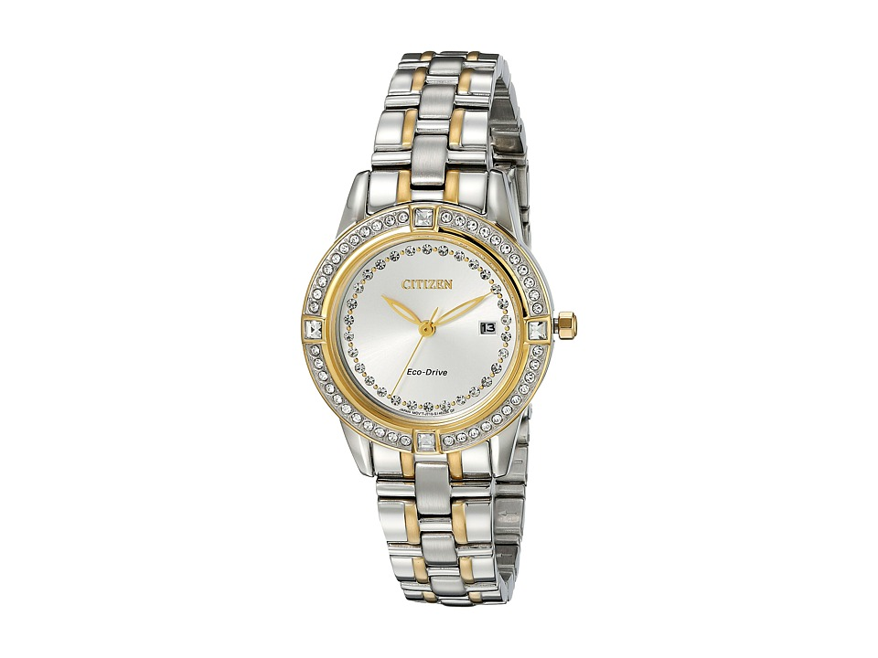 Citizen Watches - FE1154-57A Eco-Drive Silhouette Crystal (Two-Tone Stainless Steel) Watches