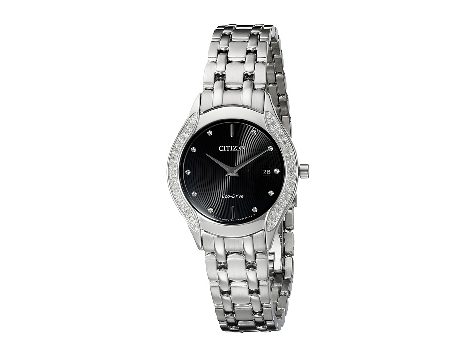 Citizen Watches - GA1060-57E Eco-Drive Dress Diamond (Silver Tone Stainless Steel) Watches