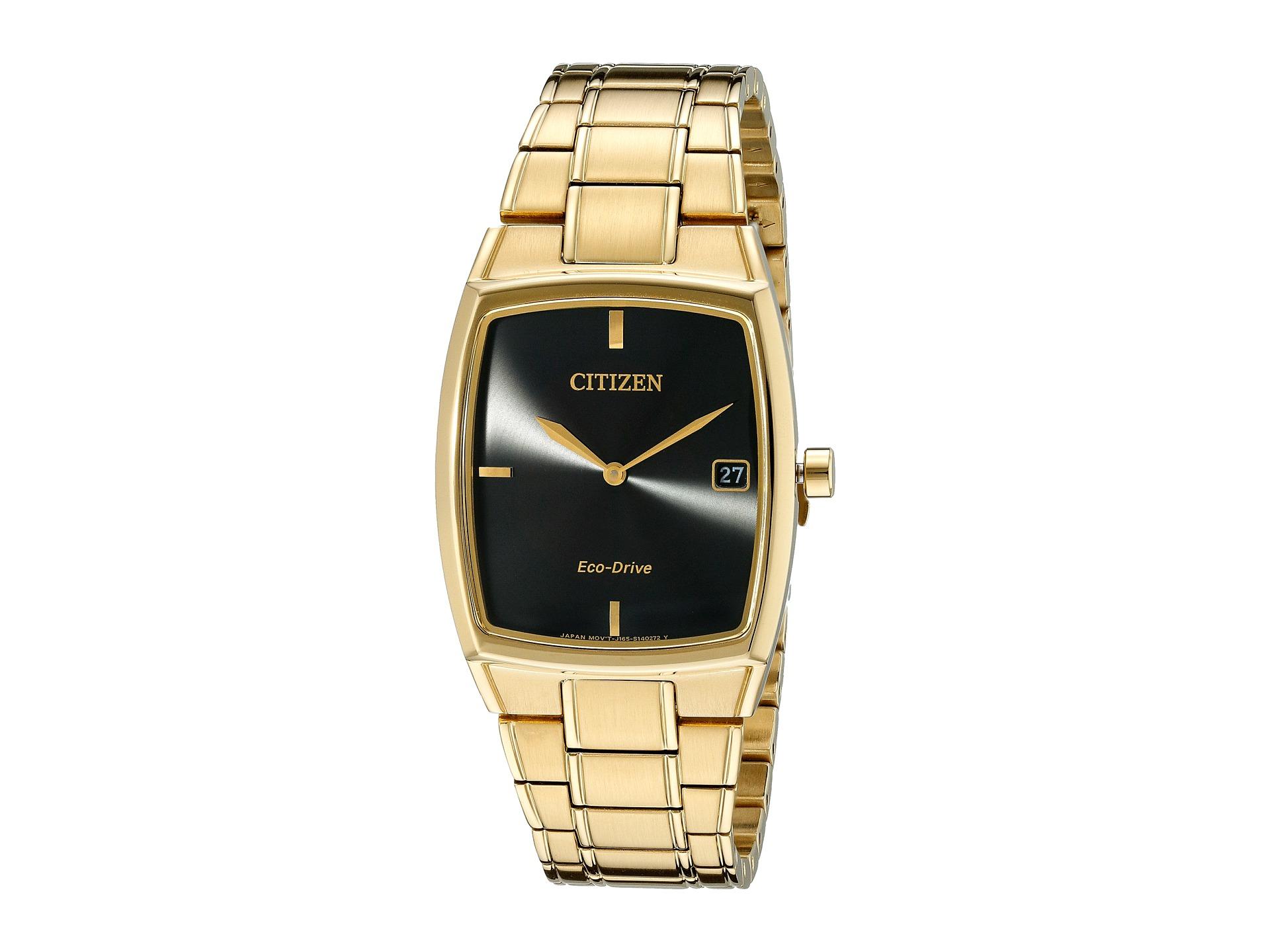 citizen watches au1072 52e eco drive dress gold tone