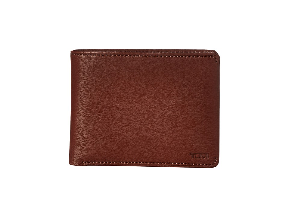 Tumi - Chambers Global Double Billfold with ID (Teak) Bill-fold Wallet