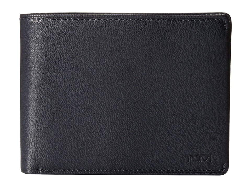 Tumi - Chambers Global Double Billfold with ID (Navy) Bill-fold Wallet