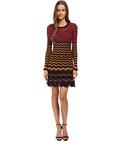 M Missoni - Greek Key Knit Long Sleeve Dress