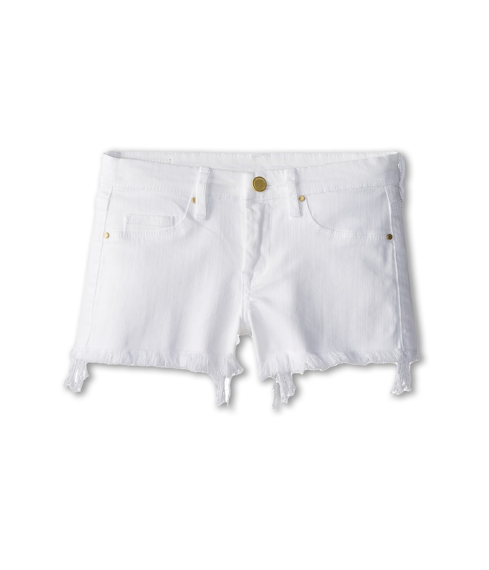 Blank NYC Kids Cut Off Shorts in White Lines Big Kids White Lines Girls Shorts