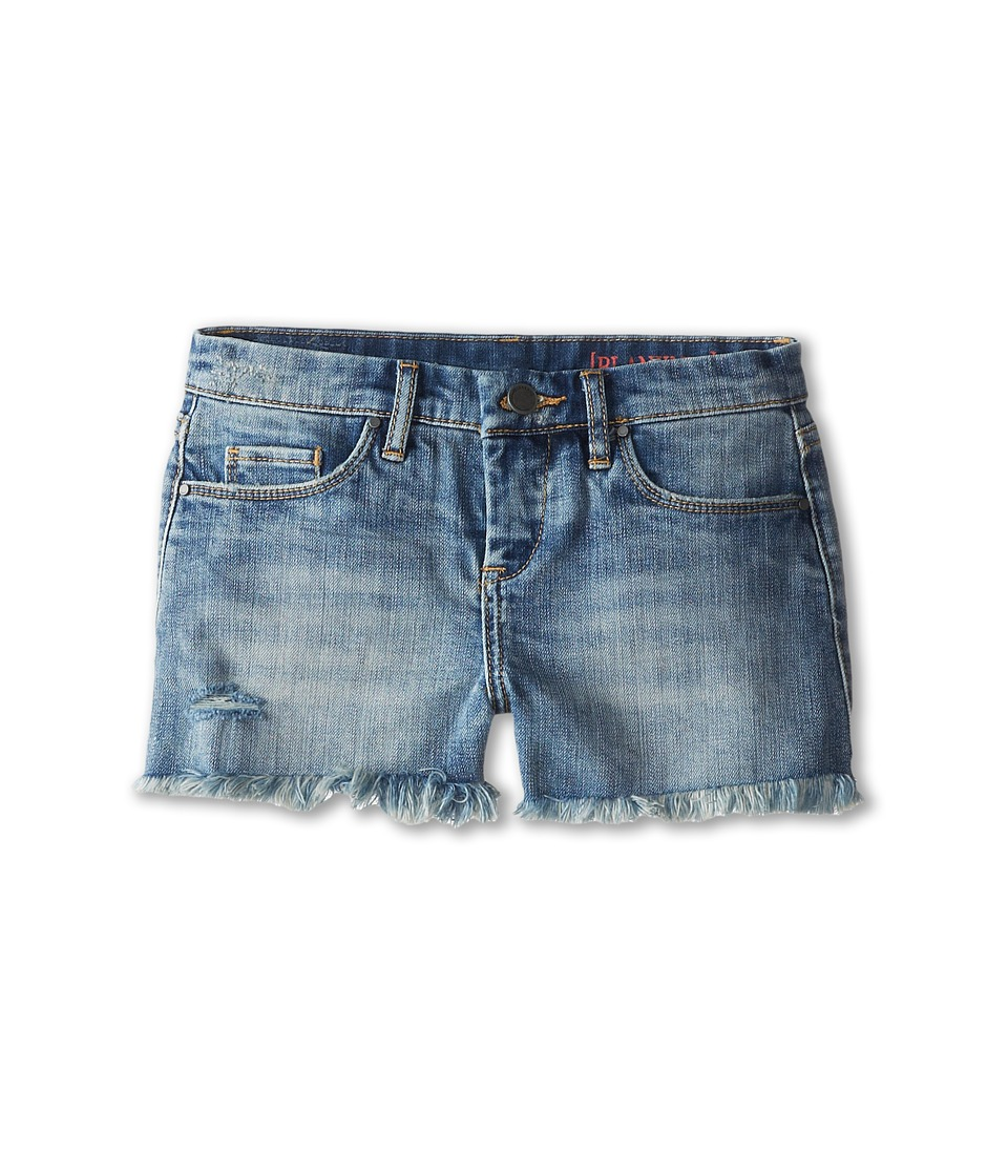 Blank NYC Kids - Medium Denim Cut Off Shorts in Flavor Savor