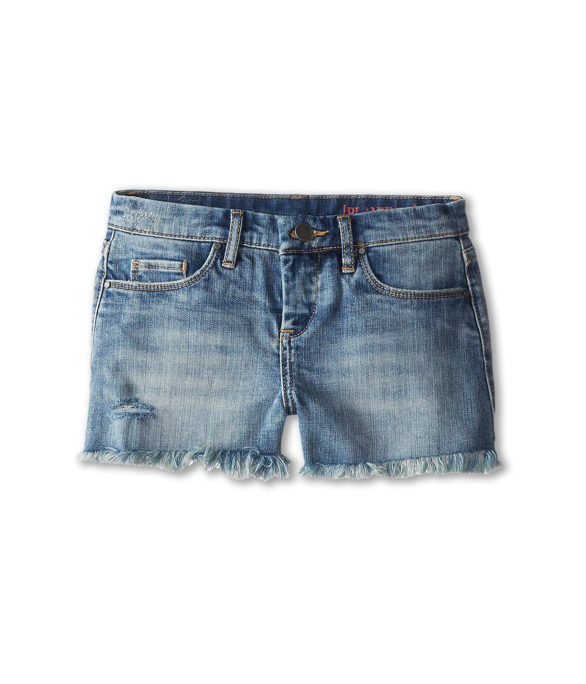 Blank NYC Kids Medium Denim Cut Off Shorts in Flavor Savor (Big Kids) at Zappos.com
