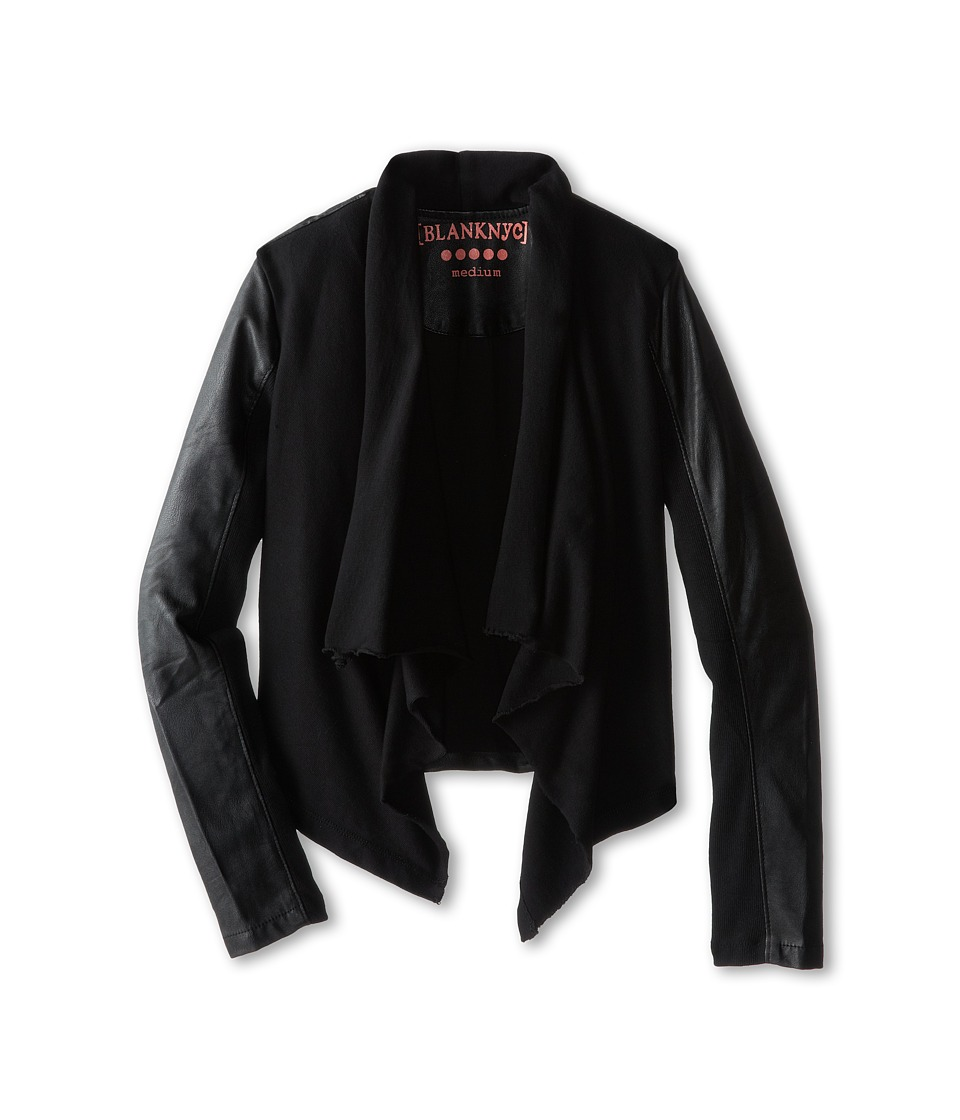 Blank NYC Kids - Drape Jacket w/ Vegan Leather Sleeves