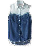 Blank NYC Kids - Tie Dye Sleeveless Button Down Shirt (Big Kids)