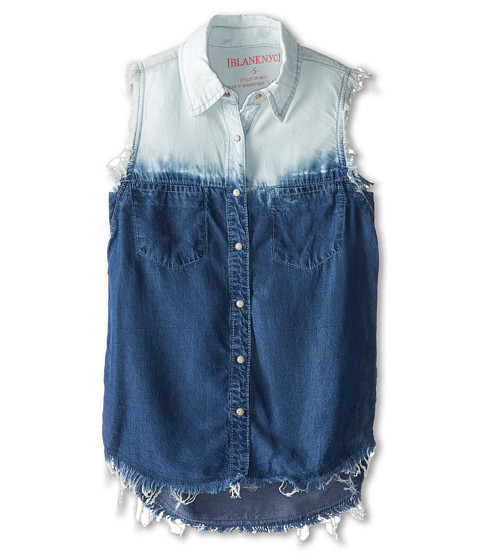 Blank nyc kids tie dye sleeveless button down shirt big for Tie dye sleeveless shirts