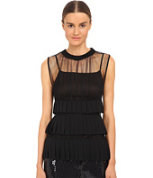Vera Wang - Ruffled Sleeveless Top