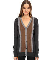 Vera Wang - Merino Wool Cardigan w/ Stripes