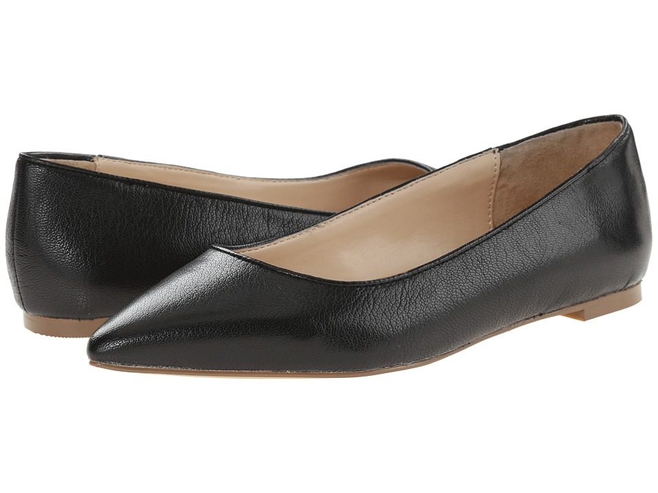 Dr. Scholls Tenacious Original Collection Black Leather Womens Flat Shoes