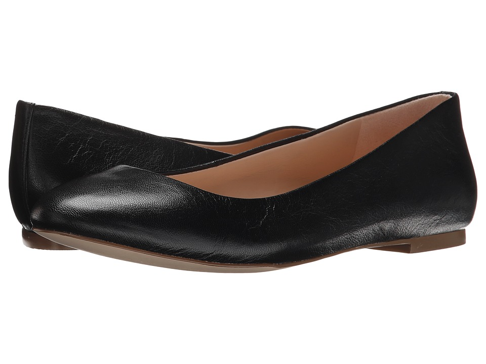 Dr. Scholls Vixen Original Collection Black Leather Womens Flat Shoes