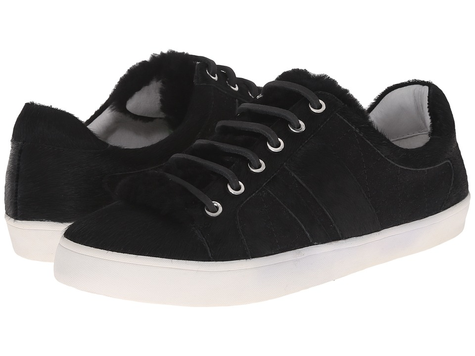 10 Crosby Derek Lam Lee Black Shearling/Wool/Haircalf Womens Lace up casual Shoes