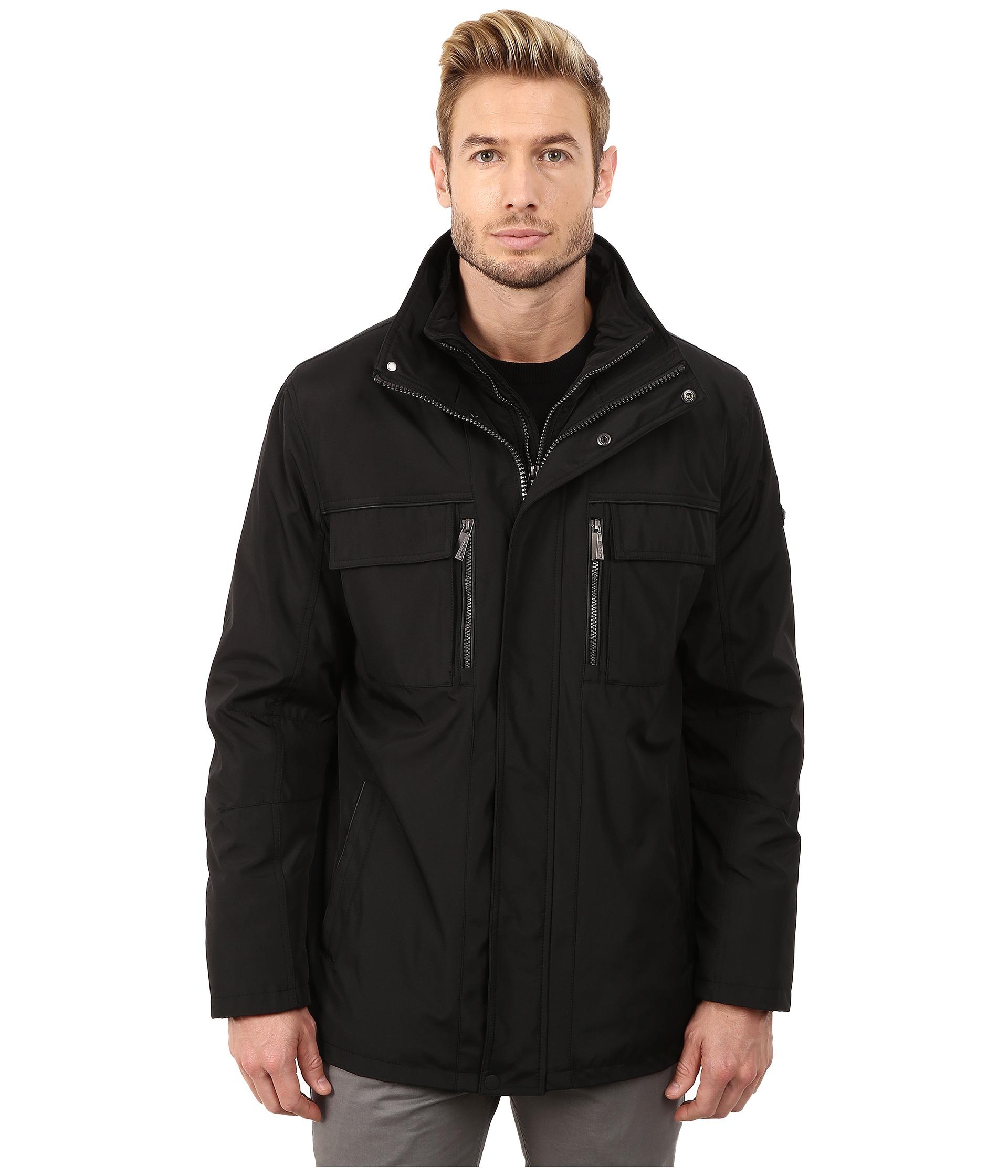 Calvin Klein Poly Jacket With Bib Black Zapposcom Free