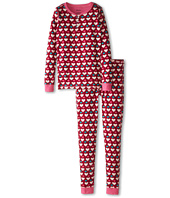 Hatley Kids - Lots Of Hearts Henley PJ Set (Toddler/Little Kids/Big Kids)