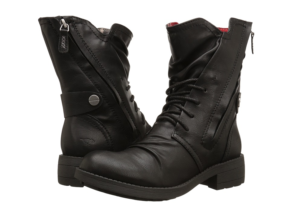 Rocket Dog Tyree Black Spartan Womens Lace up Boots