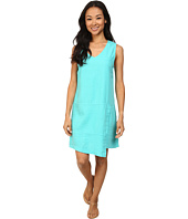 Mod-o-doc - Linen Rayon Faux Wrap Seamed Tank Dress