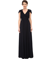 Adrianna Papell - Cap Sleeve Stretch Tulle Gown