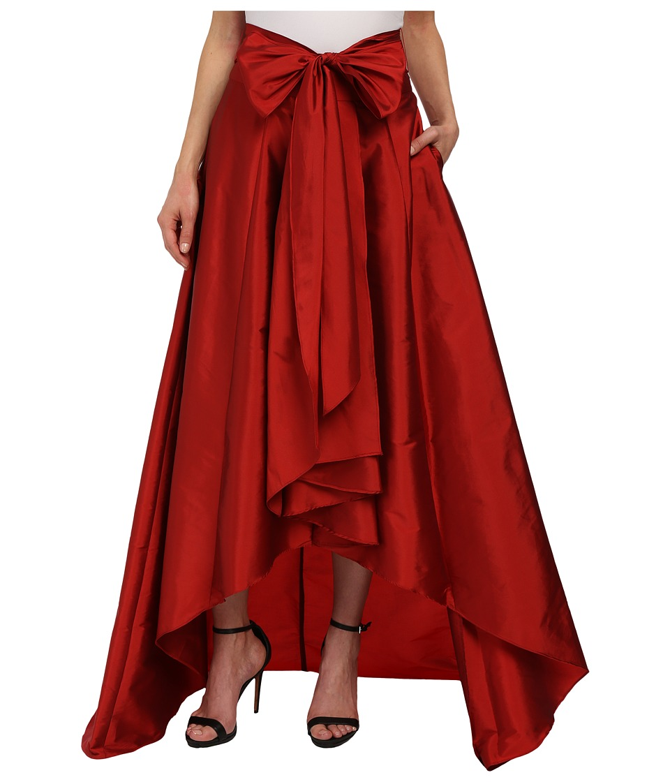 Adrianna Papell High-Low Ball Skirt (Red) Women's Skirt